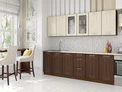 Кухня Кухня Артем-мебель Оля Корона штрокс корица/лен светлый 2,4м