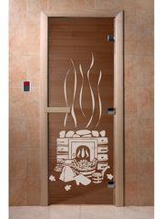 Дверь для бани и сауны Дверь для бани и сауны Doorwood Банька бронза 700x1900 (ольха)
