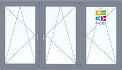 Алюминиевое окно Alutech W62 2060*1420 2К-СП П/О+П/О+П/О