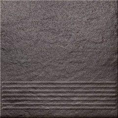 Клинкерная плитка Клинкерная плитка Opoczno Solar лестничные ступени (grafit)