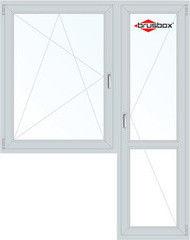 Окно ПВХ Окно ПВХ Brusbox Пластиковое окно 1440*2160 1К-СП, 4К-П, П/О+П