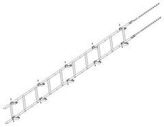 Элемент безопасности кровли Grand Line Кровельная лестница (RAL8004)