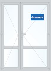 Дверь ПВХ Дверь ПВХ Deceuninck Фаворит Спэйс 1500*2100 1К-СП двустворчатая Модель 10