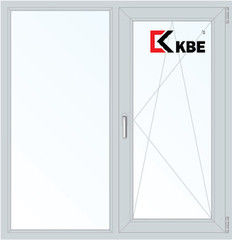 Окно ПВХ Окно ПВХ KBE 1310*1400 2К-СП, 5К-П, Г+П/О