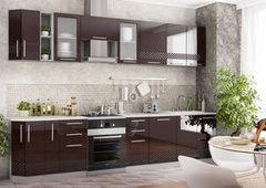 Кухня Кухня ДСВ Мебель Олива шоколад 3D