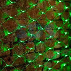 Декоративная светотехника NEON-NIGHT Сеть 2х1.5 м, прозрачный ПВХ, 288 LED зеленые 215-044