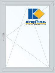 Окно ПВХ Окно ПВХ Knipping 800*1100 2К-СП, 6К-П, П/О