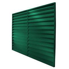 Забор Забор Скайпрофиль Жалюзи металлический 1650 покрытие двустороннее RAL6005