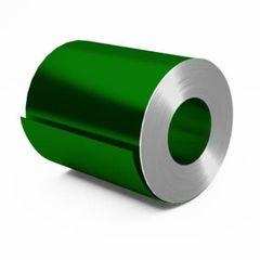 Металлический лист Металлический лист Скайпрофиль Штрипс с полимерным покрытием Полиэстер глянцевый 0,40мм RAL6002 (зелёный лист)