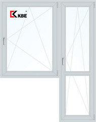 Окно ПВХ Окно ПВХ KBE Эксперт 1440*2160 2К-СП, 5К-П, П/О+П/О