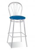 Барный стул Барный стул САВ-Лайн Венус хокер хром (синий)