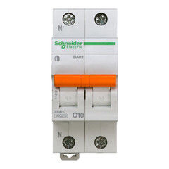 Schneider Electric Автоматический выключатель Домовой ВА63 1П+Н 10A C 4,5 кА 11212