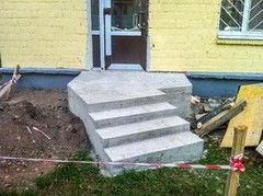 Лестница из бетона Монолит Пример 56