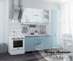 Кухня Кухня BTS Бьянка 2.1 (голубые блестки)
