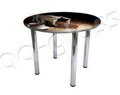 Обеденный стол Обеденный стол AA-Glass Стол круглый с фотопечатью D90 (опора труба d60)