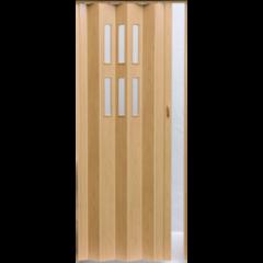 Межкомнатная дверь Дверь-гармошка Pioneer Гласс дуб ДО