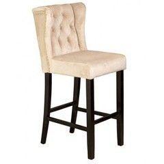 Барный стул Барный стул Алесан Роял (черная эмаль, бежевая ткань)
