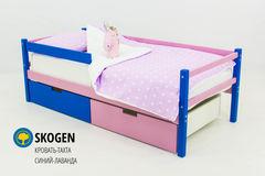 Детская кровать Детская кровать Бельмарко Skogen синий-лаванда