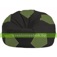 Бескаркасное кресло Бескаркасное кресло Kreslomeshok.by Мяч М 1.1-399 чёрный - оливковый