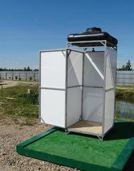 Летний душ для дачи Летний душ для дачи Престиж с тамбуром и баком на 200 литров (обогрев)
