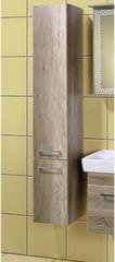 Мебель для ванной комнаты Акваль Шкаф-пенал Паола орех