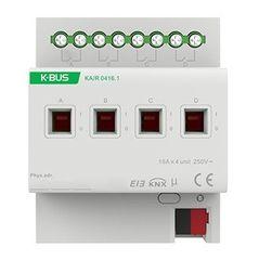 Умный дом GVS 4-х канальный релейный модуль KA/R 0416.1