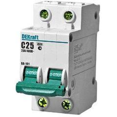 DEKraft Автоматический выключатель ВА101-2P-025A-C (11068DEK)