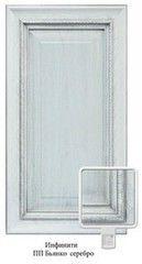 Мебельный фасад Мебельный фасад ЗОВ-Профиль Инфинити ПП Бьянко серебро