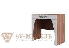 Туалетный столик SV-Мебель Лагуна 7 845x780x473 (ясень шимо темный/жемчуг)