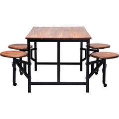Обеденный стол Обеденный стол Kare Table+Stool Space 5-part 78200