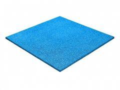 Резиновая плитка Regupol Голубая 500x500