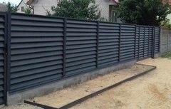 Забор Забор МСК Инвест Забор-жалюзи двухсторонний матовый (цвет 7024/7024)