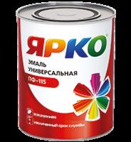 Эмаль Эмаль Ярославские краски ЯРКО ПФ-115 (0.9 кг) желтая