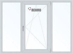 Окно ПВХ Rehau 2060*1420 1К-СП, 3К-П, Г+П/О+Г