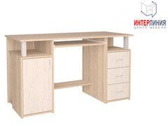 Письменный стол Интерлиния СК-008 Дуб сонома+Дуб белый