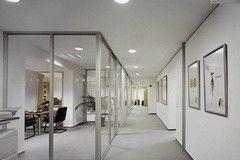 Перегородка Raumplus Офисная перегородка с прозрачным стеклом