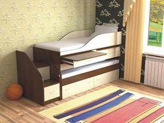 Двухъярусная кровать СлавМебель Дуэт-8 (орех экко/ваниль)