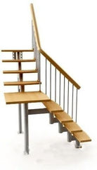 Элементы ограждений и лестниц Интерсилуэт Опорная стойка H-3000мм