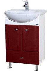 Мебель для ванной комнаты Bellezza Тумба с раковиной Уют 55 см с нижним ящиком