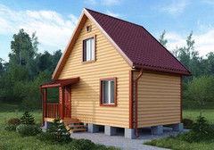 Строительство домов Дом с мансардой БелДревМонтаж Кедр К 6х4