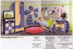 Детская комната Детская комната Калинковичский мебельный комбинат Молодежный (вариант 3)