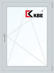 Окно ПВХ Окно ПВХ KBE 800*1100 2К-СП, 5К-П, П/О
