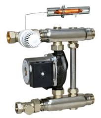 Комплектующие для систем водоснабжения и отопления Meibes Насосно-смесительный блок F36 с насосом Grundfos Alpha 2L 15-60 130 (1794201 GFP)