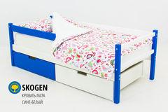 Детская кровать Детская кровать Бельмарко Skogen сине-белый