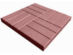 Тротуарная плитка Тротуарная плитка Завод тротуарной плитки Двенадцать 500*500*50 (красная)