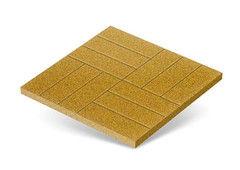 "Резиновая плитка Rubtex Плитка ""Брусчатка"" 500x500 (желтая)"