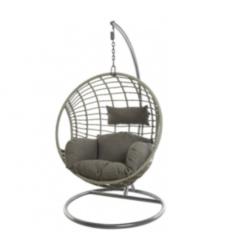 Кресло из ротанга Greendeco Bora Bora Grey 9841864