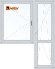 Окно ПВХ Novotex Окно ПВХ 1440*2160 2К-СП, 5К-П, П+П/О
