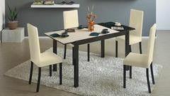 Обеденный стол Обеденный стол ТриЯ Диез Т4 раскладной со стеклом