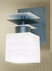 Настенный светильник N&B Light 7401 ПИАСТРА черный-серый